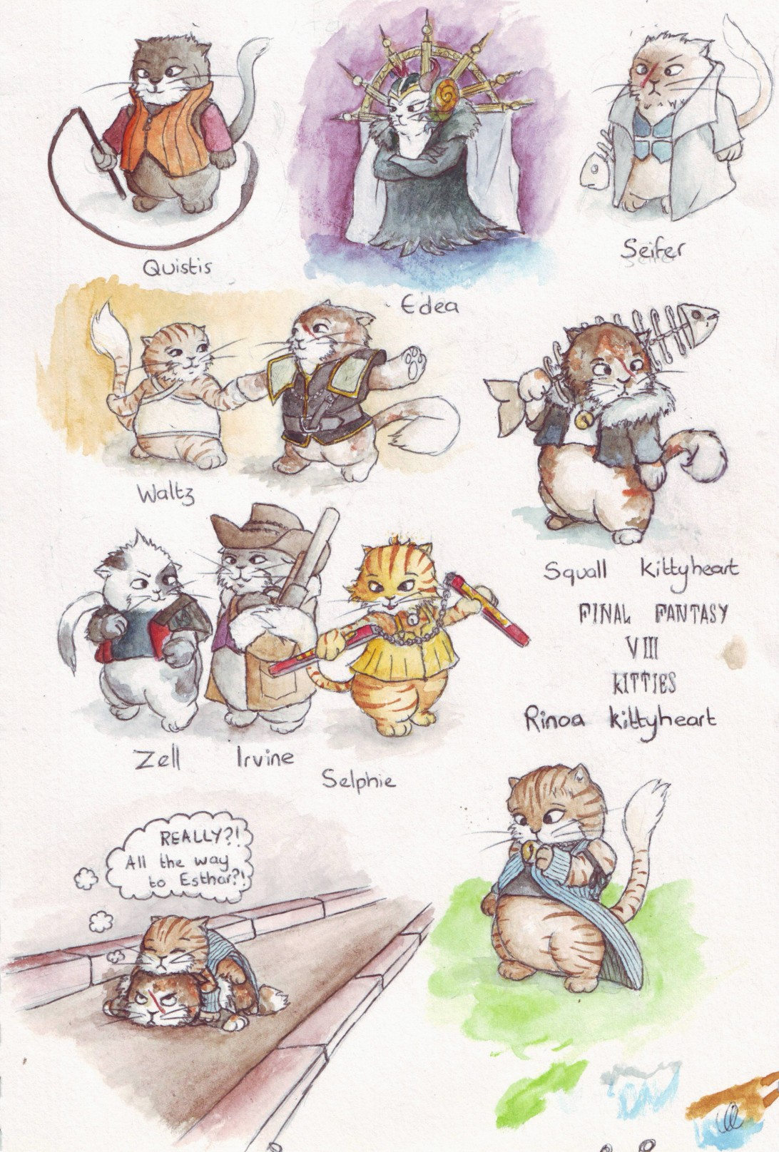 I finally (hah! pun) finished my kitties. This is a homage to my all time favourite game.